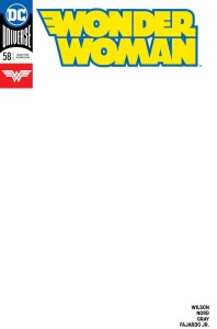 WONDER WOMAN #58 BLANK VAR ED