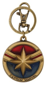 CAPTAIN MARVEL PEWTER KEY RING