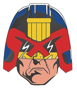 2000 AD JUDGE DREDD 1:2 SCALE BADGE