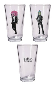 UMBRELLA ACADEMY HAZEL & CHA CHA PINT GLASS SET