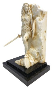 WONDER WOMAN NEO CLASSICAL MARBLE FINISH FINE ART STATUE