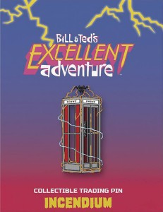 BILL AND TEDS EXCELLENT ADVENTURE PHONE BOOTH LAPEL PIN