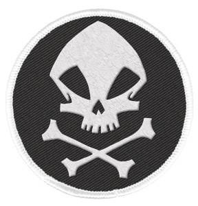 UMBRELLA ACADEMY PATCH KRAKEN SKULL LOGO
