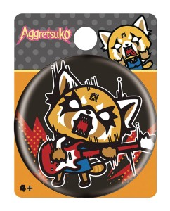 AGGRETSUKO ROCK OUT BUTTON PIN