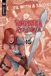 RED SONJA VAMPIRELLA #2 CVR E MOSS THEN NOW