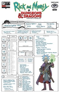 RICK & MORTY VS D&D II PAINSCAPE #2 CVR C LOOK CHARACTER SHEET