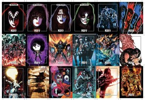 KISS DLX ULTRA PREMIUM TRADING CARDS UNCUT BASE CARD SHEET