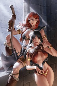 VAMPIRELLA RED SONJA #8 YOON LTD VIRGIN CVR