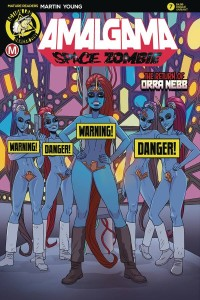 AMALGAMA SPACE ZOMBIE #7 CVR B YOUNG RISQUE