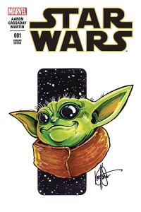 DF STAR WARS COMIC BABY YODA HAESER SKETCH