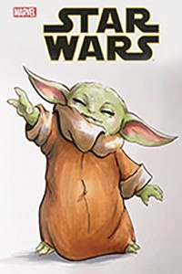 DF STAR WARS COMIC BABY YODA GAINEY SKETCH