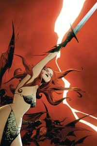 VAMPIRELLA RED SONJA #10 LEE LTD VIRGIN CVR