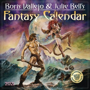 BORIS VALLEJO JULIE BELL FANTASY 2021 WALL CAL