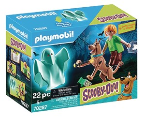 PLAYMOBIL SCOOBY DOO SCOOBY & SHAGGY W/GHOST 2PK SET