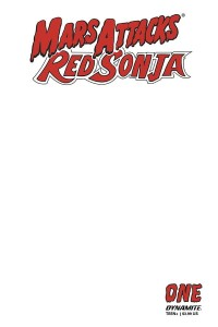 MARS ATTACKS RED SONJA #1 BLANK AUTHENTIX ED