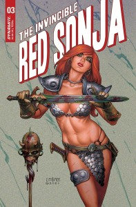 INVINCIBLE RED SONJA #3 CVR B LINSNER