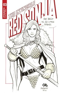 INVINCIBLE RED SONJA #3 CVR D CHO