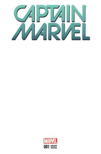 CAPTAIN MARVEL #1 BLANK VAR