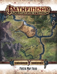 PATHFINDER CAMPAIGN SETTING IRONFANG POSTER MAP FOLIO