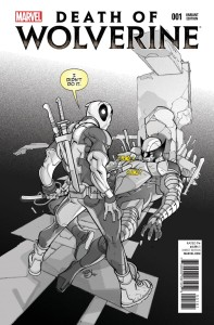DEATH OF WOLVERINE #1 DEADPOOL MEMORIAL SKETCH VAR