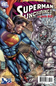 SUPERMAN UNCHAINED #5 75TH ANNIV VAR ED VILLAIN CVR