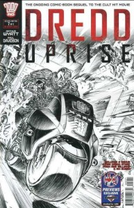 DREDD UPRISE #2 (OF 2) PX UK B&W CVR