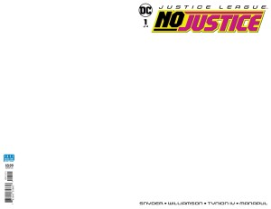 JUSTICE LEAGUE NO JUSTICE #1 (OF 4) BLANK VAR ED
