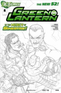 GREEN LANTERN #6 BLACK & WHITE VAR ED