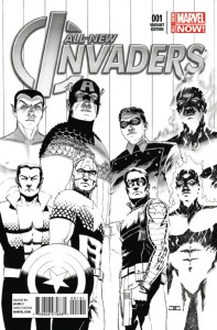 ALL NEW INVADERS #1 CASSADAY SKETCH VAR