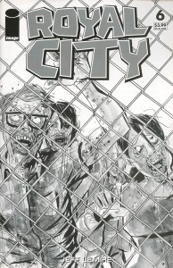 ROYAL CITY #6 CVR D B&W WALKING DEAD #16 TRIBUTE VAR