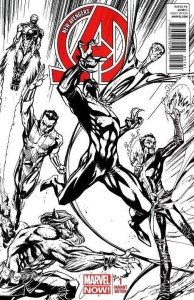 NEW AVENGERS #1 CAMPBELL SKETCH VAR NOW