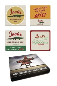 AMERICAN GODS JACKS CROCODILE BAR COASTER SET