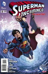 SUPERMAN UNCHAINED #5 75TH ANNIV VAR ED NEW 52 COVER