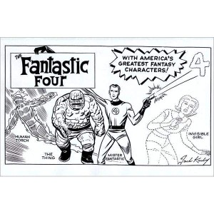FANTASTIC FOUR #1 KIRBY HIDDEN GEM B&W VAR