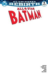 ALL STAR BATMAN #1 BLANK VAR ED