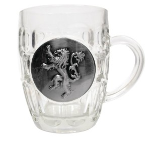 GAME OF THRONES LANNISTER METALLIC LOGO CRYSTAL STEIN