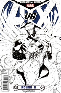 AVENGERS VS X-MEN #11 (OF 12) PICHELLI SKETCH VAR AVX
