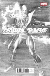 IRON FIST #1 ROSS B&W VAR