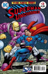 SUPERMAN UNCHAINED #3 75TH ANNIV VAR ED BRONZE AGE