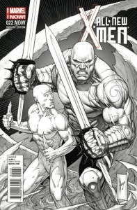 ALL NEW X-MEN #22.NOW KEOWN SKETCH VAR ANMN
