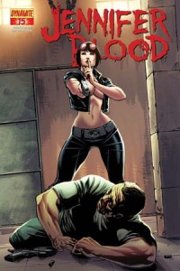 GARTH ENNIS JENNIFER BLOOD #15 25 COPY RISQUE CVR