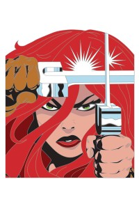 RED SONJA SIMONSON PIN