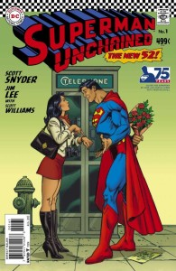 SUPERMAN UNCHAINED #1 75TH ANNIV VAR ED SILVER AGE
