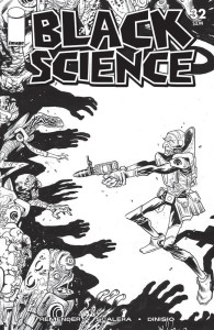 BLACK SCIENCE #32 CVR D B&W WALKING DEAD #5 TRIBUTE VAR