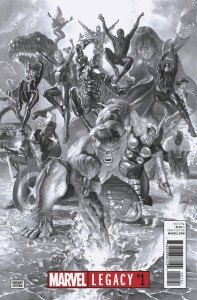MARVEL LEGACY #1 ROSS BW VAR