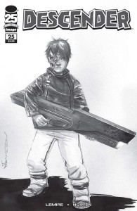 DESCENDER #25 CVR D B&W WALKING DEAD #104 TRIBUTE