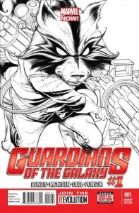 GUARDIANS OF GALAXY #1 QUESADA SKETCH VAR NOW