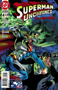 SUPERMAN UNCHAINED #4 75TH ANNIV VAR ED REBORN CVR
