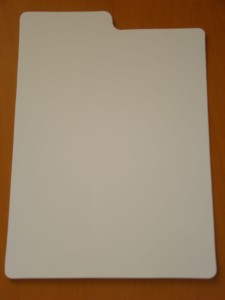 WHITE PLASTIC TITLE DIVIDERS (separatory)