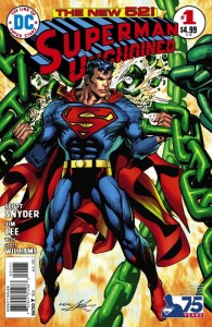 SUPERMAN UNCHAINED #1 75TH ANNIV VAR ED BRONZE AGE